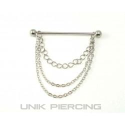 Piercing industriel pendant 3 chaines