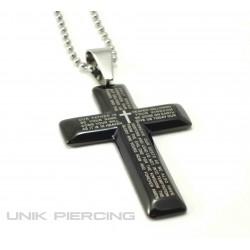 "Pendentif  ""Priest"" Croix blackline"