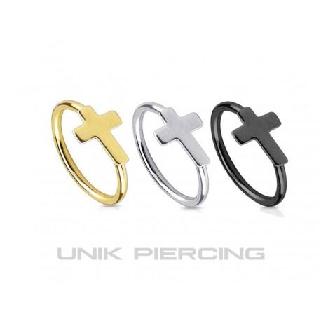 Piercing Nez anneau croix