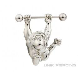 Piercing téton singe 1.6mm