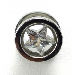Plug étoile cristal acier