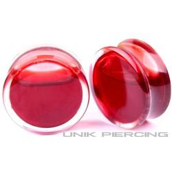 Plug  Acrylique Liquide effet sang