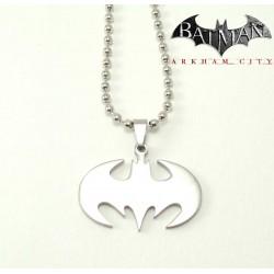 """Pendentif  """"Batman"""" chaîne en acier"""
