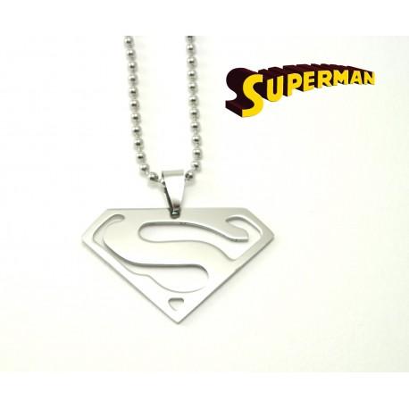 Pendentif avec chaîne en acier Superman