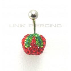 Piercing nombril swarovski pomme