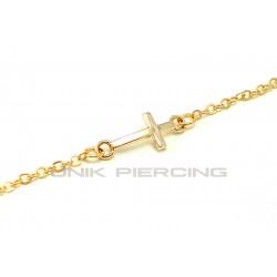 Chaine de taille Croix plaqué or