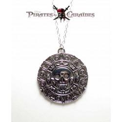 """Pendentif   Pièce D'Or  """"Pirates Des Caraïbes"""""""