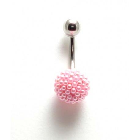 piercing nombril boule perle de culture rose. Black Bedroom Furniture Sets. Home Design Ideas
