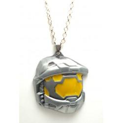 """Pendentif  Jeux """"Halo"""" casque 3D"""
