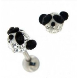 Piercing tragus swarovski panda