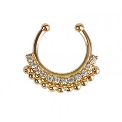 Faux Piercing  Septum Doré  Indian