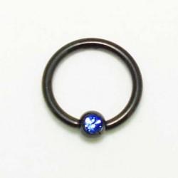 Piercing anneau BCR Blackline cristal