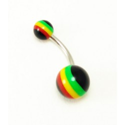 Piercing Nombril Rasta