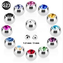 Boule Cristal 1.2mm Titane G23