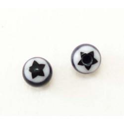 Bille Acrylique étoile noire 1.2mm