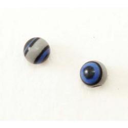 Bille Acrylique bleu-gris-noir 1.2mm