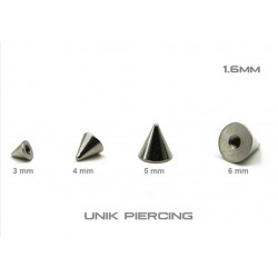 Accessoires Piercing Spyke  Acier 1.6mm