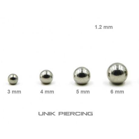 Accessoires Piercing Boule  Acier 1.2mm