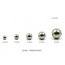 Accessoires Piercing Boule  Acier 1.6mm