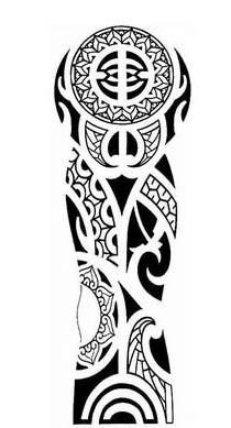 Tattoo Maori Bras Complet