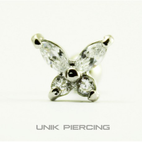 Piercing  Tragus Papillon Acier