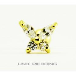 Piercing  Tragus Papillon Doré