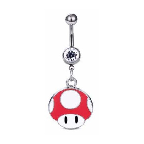 Piercing Nombril Mario Champignon Rouge