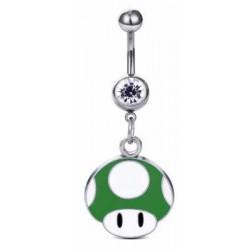 Piercing Nombril Mario Champignon  Vert