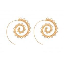 Boucles d'oreilles spirale doré