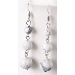 Boucles D'oreilles pierres naturelles marbre