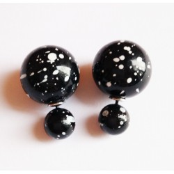 Boucles D'oreilles Boule tache noir