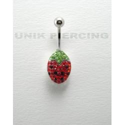 Piercing swarovski fraise