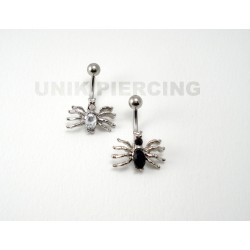 Piercing nombril araignée strass