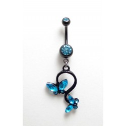 Piercing Nombril papillon blackline