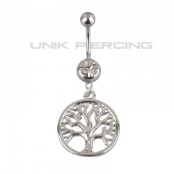 Piercing nombril arbre de vie