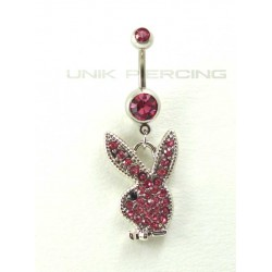 Piercing nombril playboy rose