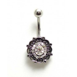 Piercing nombril ornemental cristal