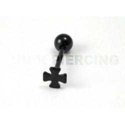 Piercing langue Croix noir