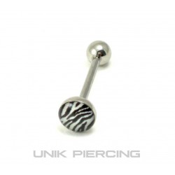 Piercing langue zèbre
