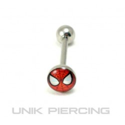 Piercing langue spiderman