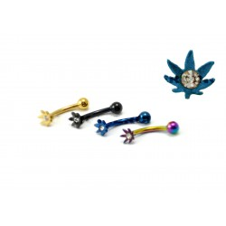 Piercing arcade/tragus cana cristal  bleu