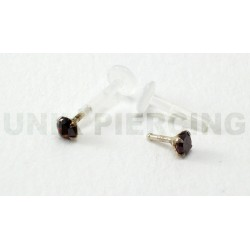 Piercing labret/madona cristal  rubis
