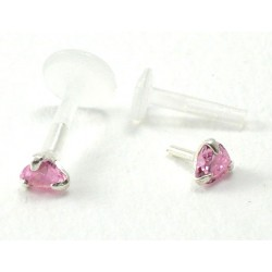 Piercing labret/madona coeur rose