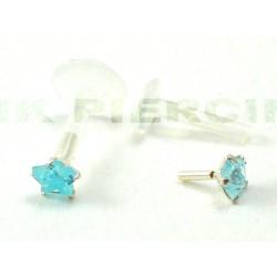 Piercing labret/madona étoile bleue