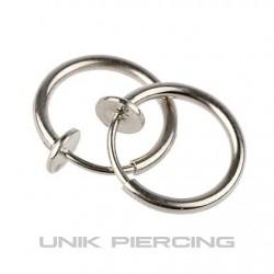 Faux piercing  anneaux  à clip 10mm