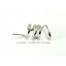 Faux piercing Hélix Clip serpent