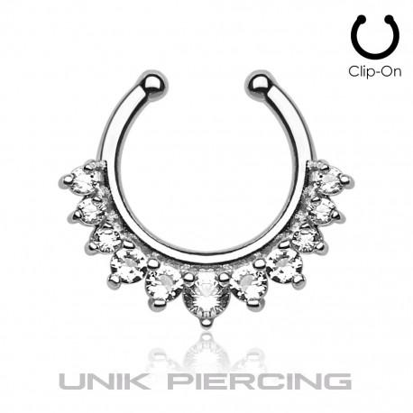 Faux Piercing cercle cristal