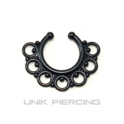 Faux piercing acrylique 7 cercles