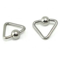 Piercing anneau triangle clip