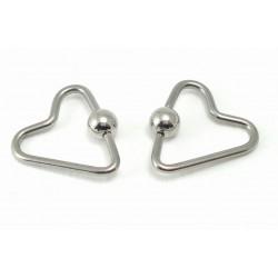 Piercing anneau coeur clip